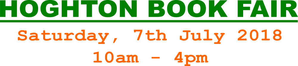 D B Derbyshire Bookseller | Hoghton Book Fair Banner
